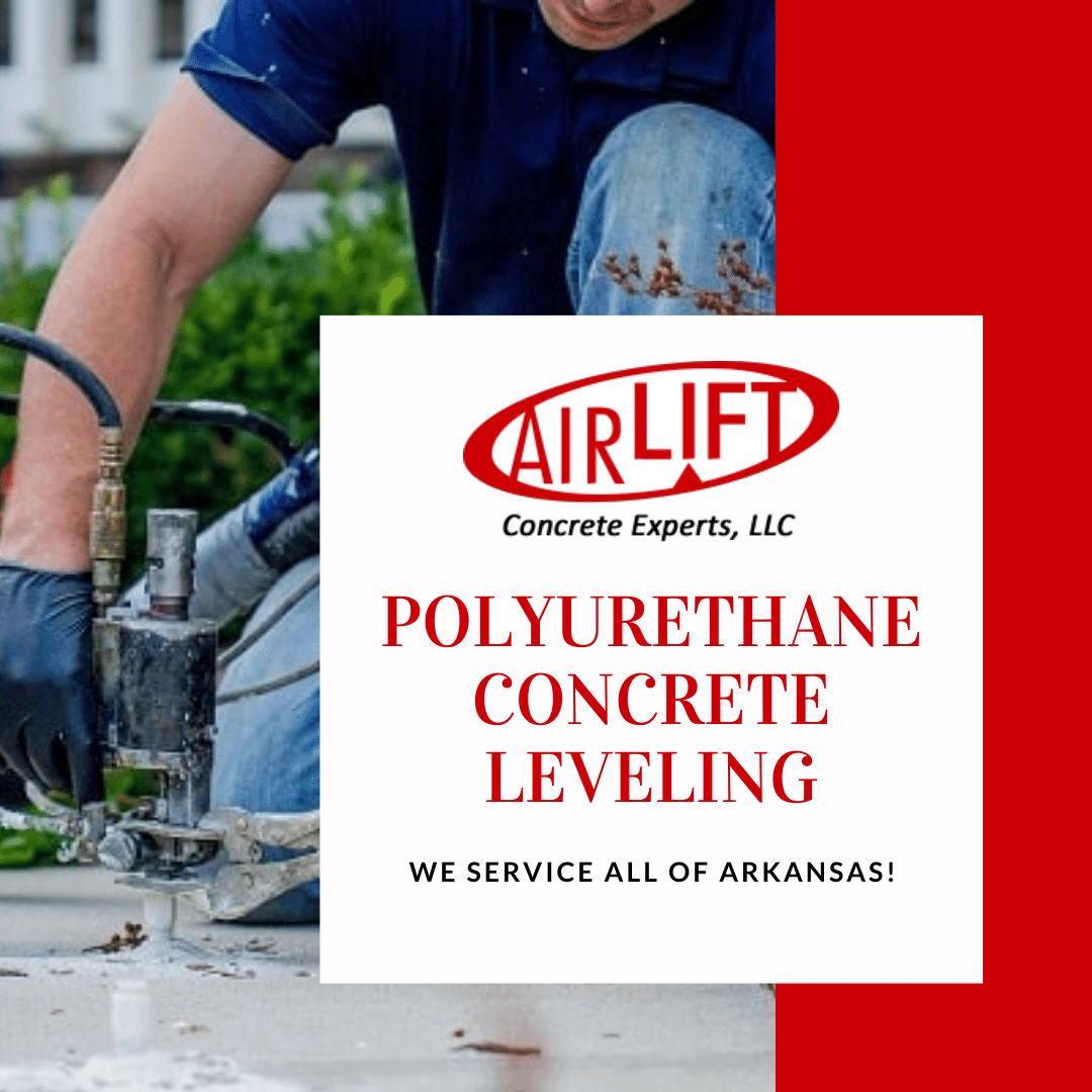 Airlfit Concrete Experts provide polyurethane concrete leveling to all of Arkansas