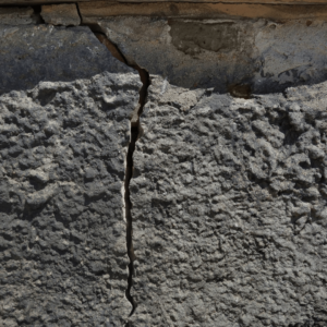 Cracks in your foundation can mean shifting and settling of foundation footings. You may benefit from polyurethane concrete lifing.